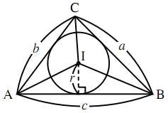 三角形の面積と内接円の半径