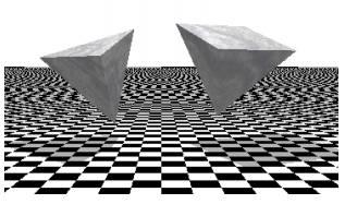 正三角錐と正四角錐