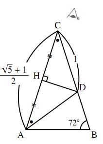 $36^\circ$ の三角比