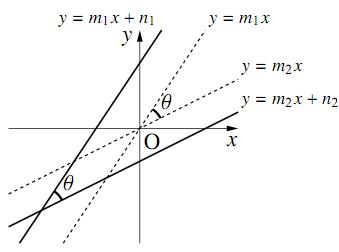 2直線のなす角の図その1