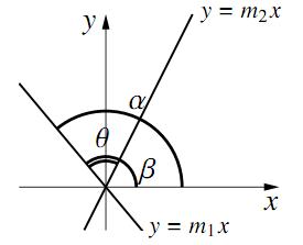 2直線のなす角の図その2