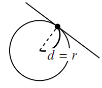 「円と直線の共有点」についての図その2