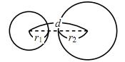 2円の位置関係の図その1