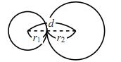 2円の位置関係の図その2