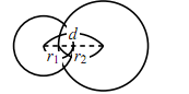 2円の位置関係の図その3