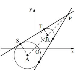 2円の共通接線の解答の図その2