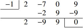 2の組立除法の図