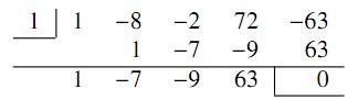4の組立除法の図
