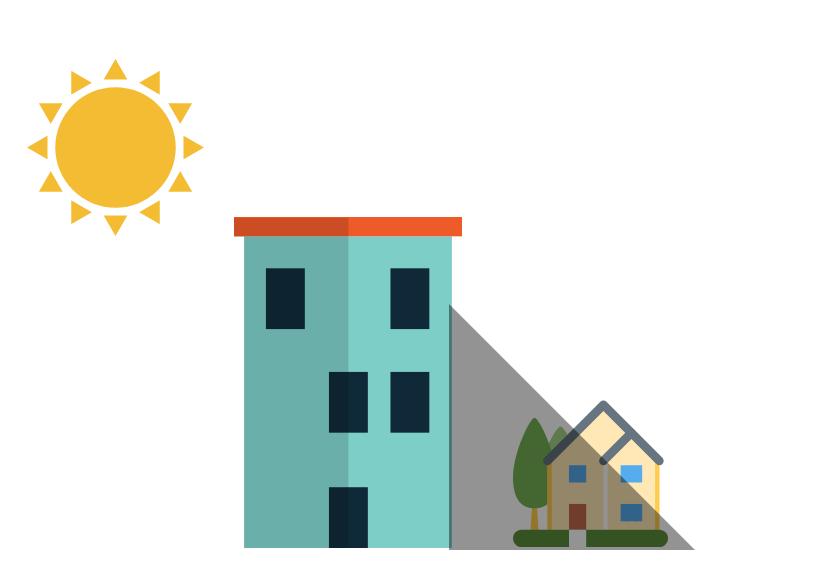 戸建てはマンションより日当たりが悪い