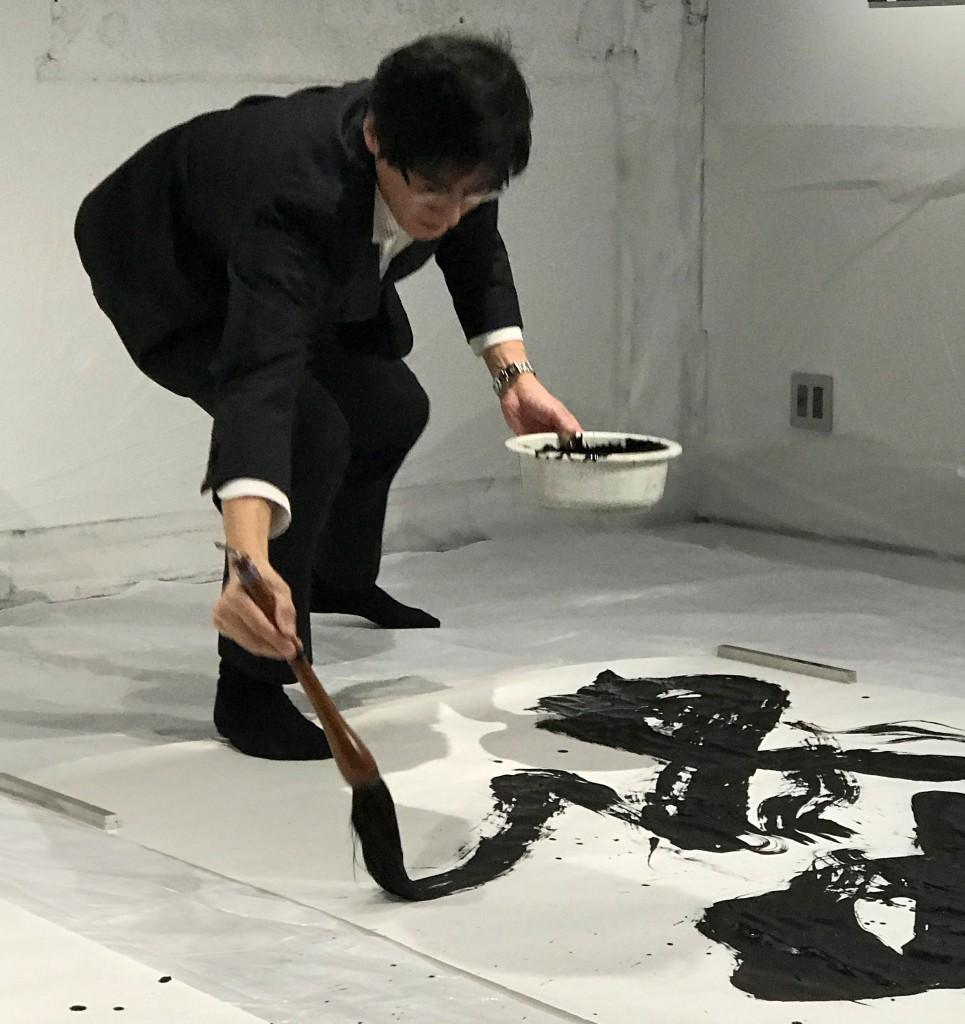 171106青山先生パフォーマンス