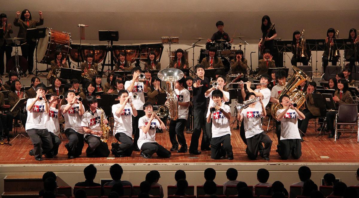 全国トップレベルの強豪校を招待してのスペシャルコンサート!迫力ある演奏はとても刺激されます!