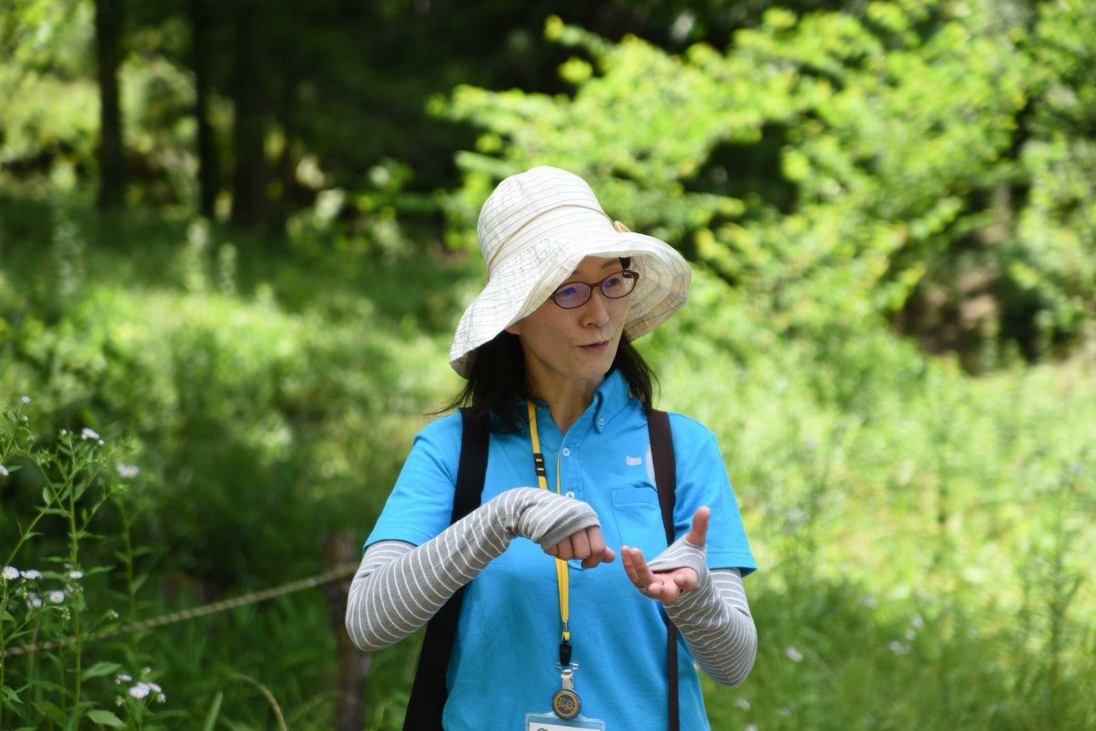 里山保育のボランティアスタッフの渡辺さん