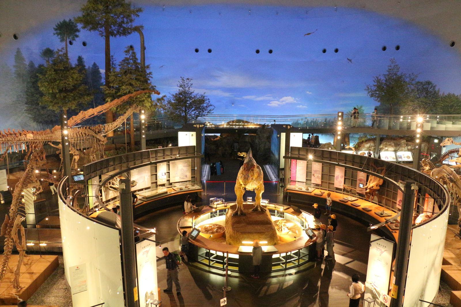 勝山を代表する観光資源の一つである「恐竜」。福井県立恐竜博物館は年々入場者数を伸ばし、2015年度の年間入場者数は90万人を突破しました