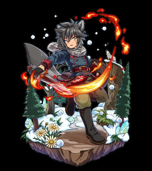 炎刃の雪銀狼ジベル
