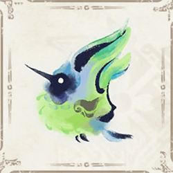緑ヒトダマドリアイコン