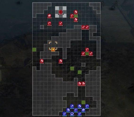 赤き谷の討伐戦マップ