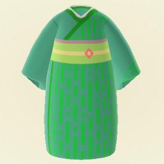Young Spring Bamboo Kimono