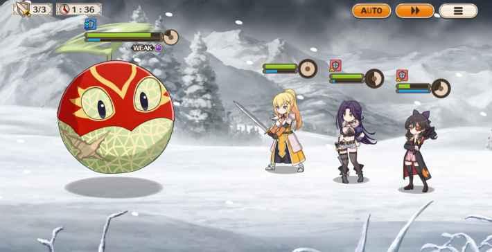 マスクメロン戦闘画面