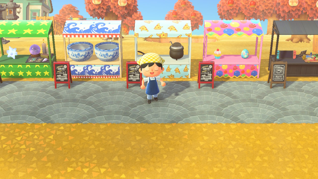 Acnh Stall Ideas Designs Street Market Guide Animal Crossing Gamewith