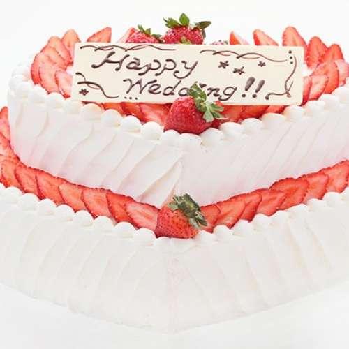 GAMOS 生ケーキ 3段ハート型