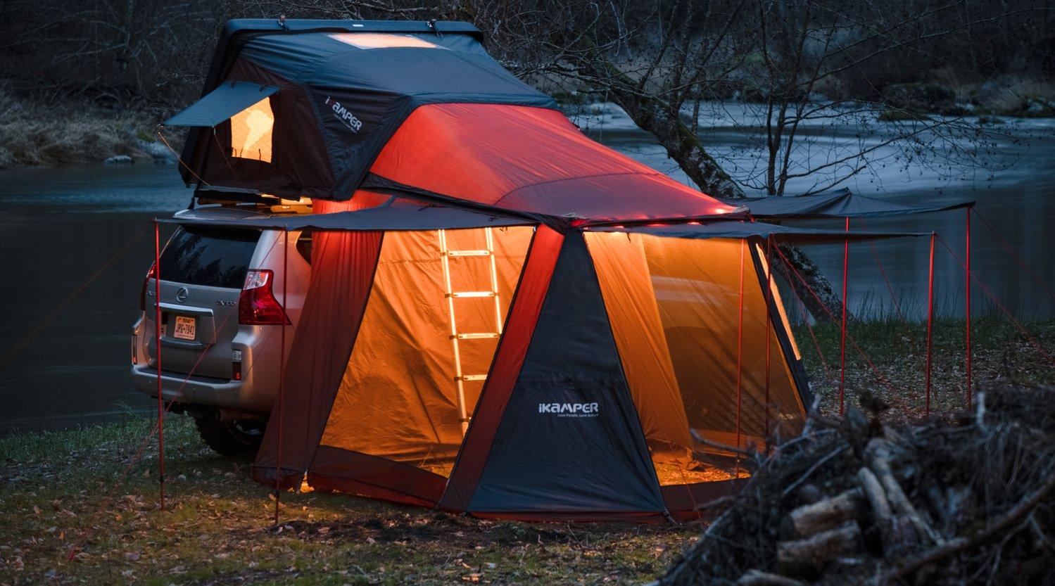 たった1分でキャンピングカーになる!?休日が楽しくなるオススメのルーフテントをご紹介!
