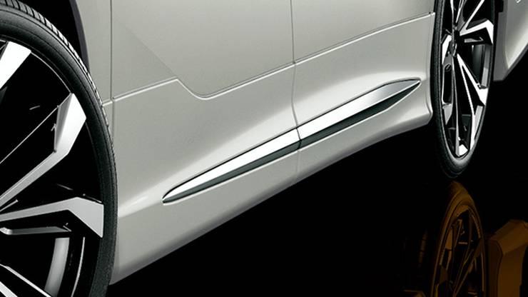 新型30後期アルファード カスタム エアロパーツ ドレスアップ モデリスタ サイドスポイラー