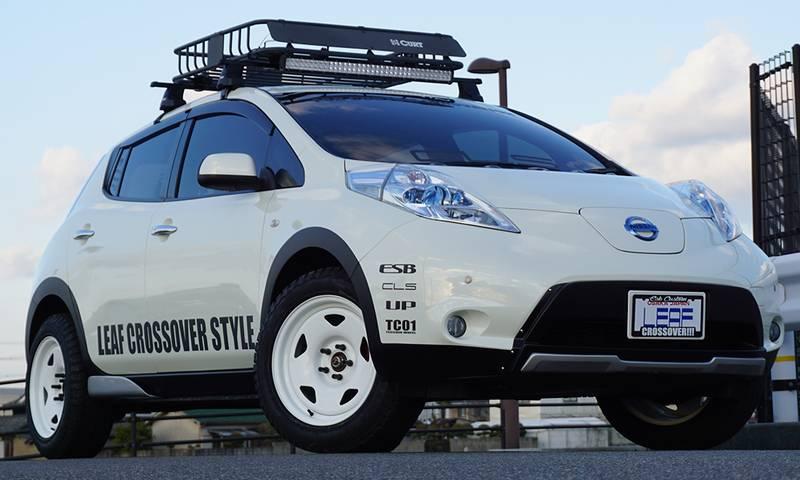 日産リーフZE0 カスタムカー ドレスアップパーツ リフトアップ