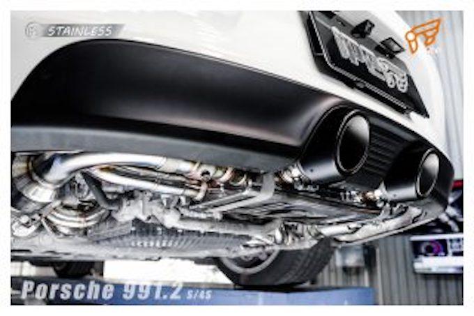 ポルシェ porsche 911 991 カスタム マフラー イノテック 可変バルブ