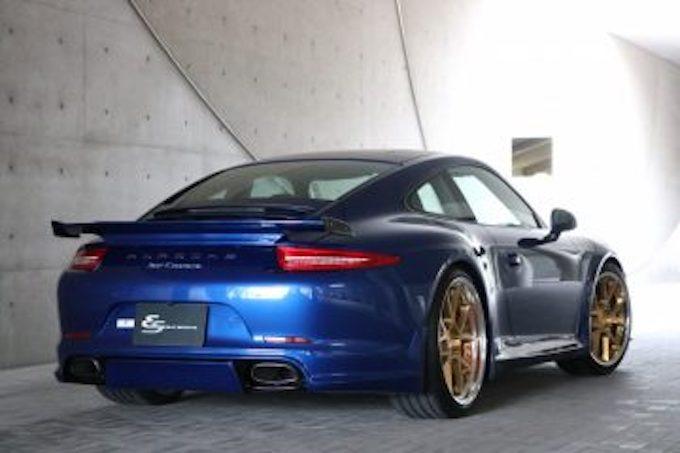 ポルシェ porsche 911 991 カスタム エアロパーツ エウル ドレスアップ リアアンダースポイラー