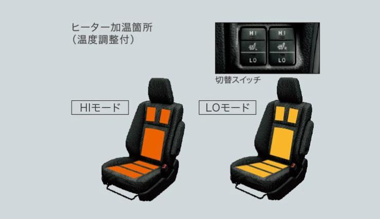 トヨタ・ノア(R80G/W型)温熱シート