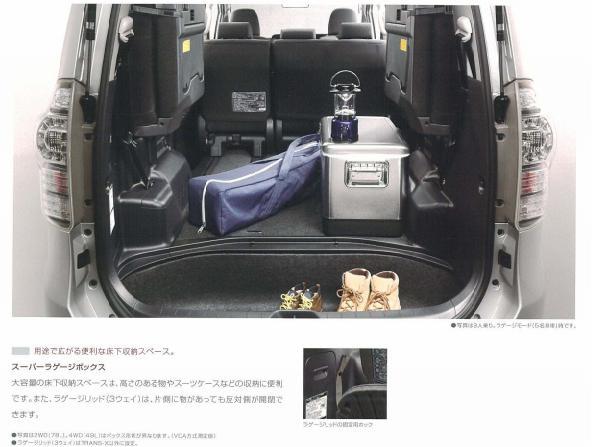 トヨタ・ヴォクシー(70系)床下収納