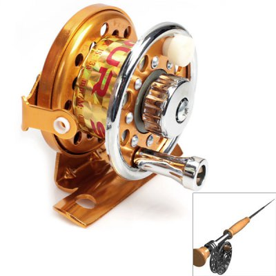 Wonderful Copper Mandrel Spool Spinning Reel Fishing Accessories (Golden)