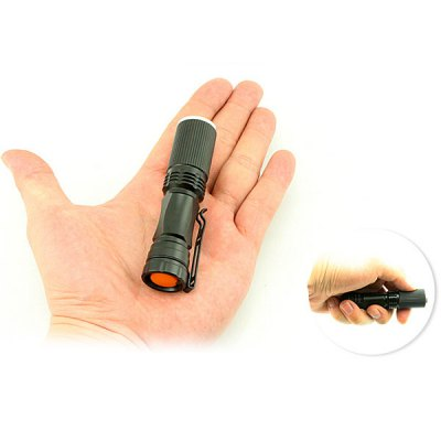 508 Cree Q5 300 Lumens 3 Modes Water Resistant Focusing LED Flashlight Torch with Clip ( 1 x AA Battery )