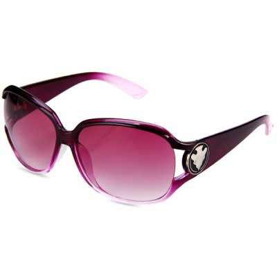 Fashionable UV400 Sunglasses PC Eyewear Big Frame Eyes Protector Outdoor Leisure Necessities