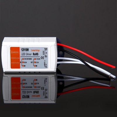 12V 18W LED Driver Transformer Power Supply for LED Bulbs Strip Lights (AC 100 - 240V)