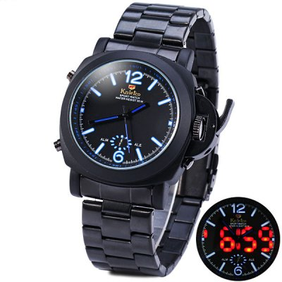 Kaletco 719 IP Plating Male LED Sports Military Watch