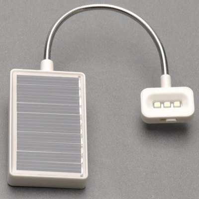 Economical Practical 3 LEDs Solar Light with USB Charger for Reading