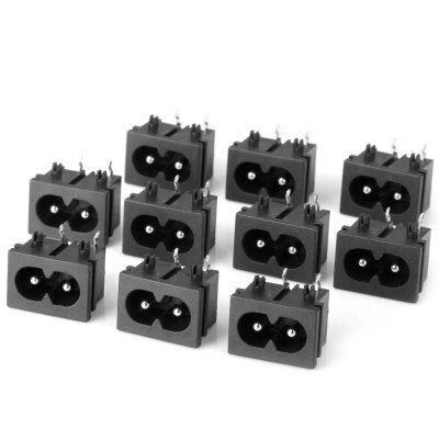 Full Function DIY 2.5mm AC Power Plugs Adapters for Electronic Devices  -  ( AC 250V 0.3A / 10PCS )
