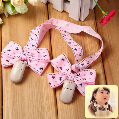 Bowknot Pattern Baby Bib Clip for Infant Feeding Nursing Drool Use