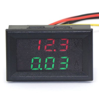 Jtron Practical Dual 0.28 inch 3 Digit Red Green LED Display Voltage Current Meter ( 0  -  100V / 10A )