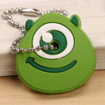 Funny Double Side Cartoon Key Ring Portable Key Protection Cover Cellphone Bag Decoration