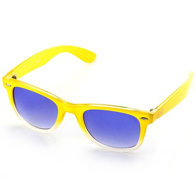 Stylish Polycarbonate Materials Sunshine Protection Blue Reflex Eyewear Anti - wind Motorcross Goggle Yellow and White Secondary