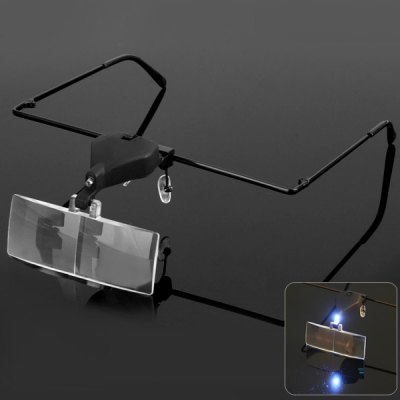 9157 - 3 Glassess Magnifier with LED Lamp for Repairing Watch