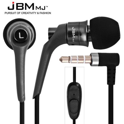 JBMMJ MJ6600 Flat Wire Intelligent Mobile Phone Earphones with Burn - in Software CD Perfect Fit for iPad iPod iPhone Samsung et