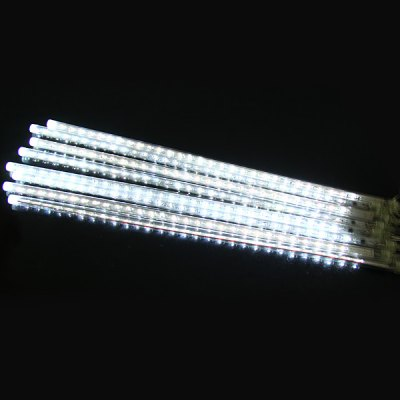 50CM Water - resistant LED Meteor Light Xmas White Light Rain Drop Shower Light (8 pcs/pack US Adapter)