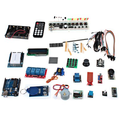DBLJ03 PCB RFID Main Board Development Board Starter Kit with Basic Component Pack Set for Arduino Workshop Beginners