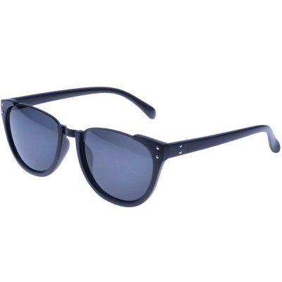 High Quality Unisex Classic Design Sunglasses with Black Frame and Gradual Gray Lens