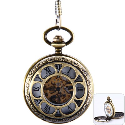 Mechanical Pocket Watch Roman Numerals Indicate