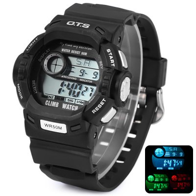 OTS 6907 Multifunction Sports LED Climb Watch 50M Water Resistant