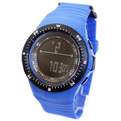 Shhors LED Sports Military Watch 30M Water Resistant Chronograph Alarm Function